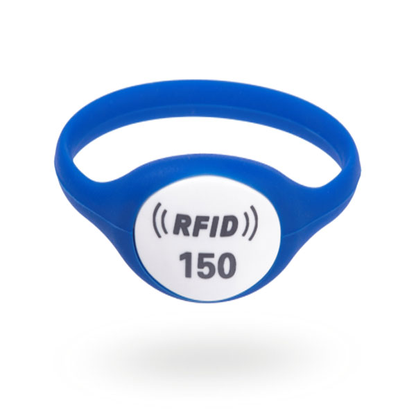 blue rfid rubber wristband