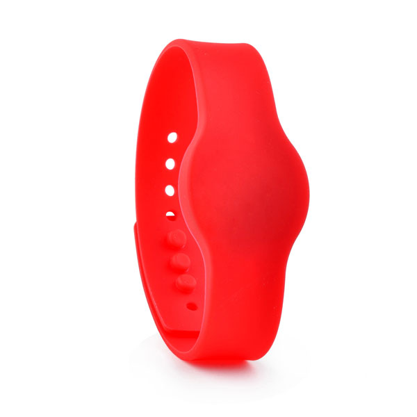 red rfid rubber wristband