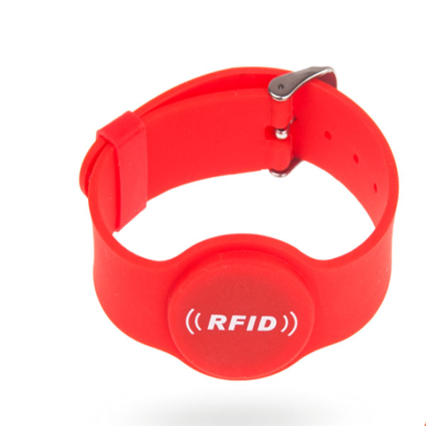 rfid rubber wristband red