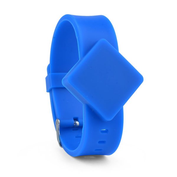 rfid rubber wristband in blue