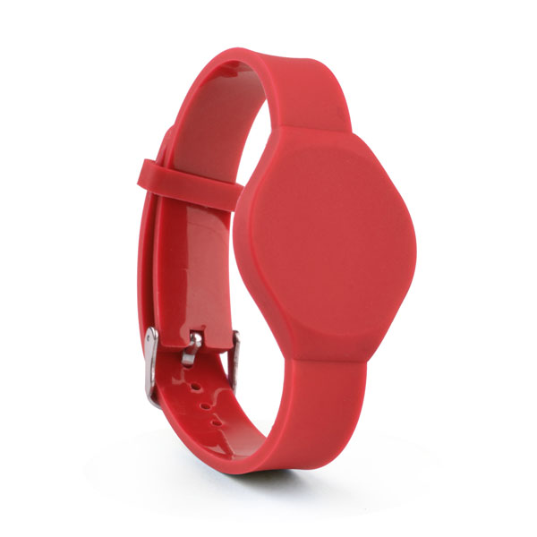 red pvc wristbands