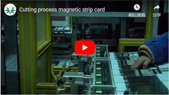 Cutting Process Magnetic Strip Card