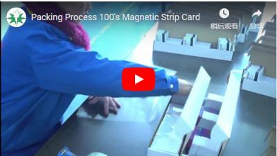 Packing Process 100's Magnetic Strip Card
