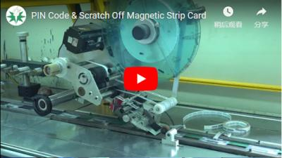 PIN Code & Scratch Off Magnetic Strip Card