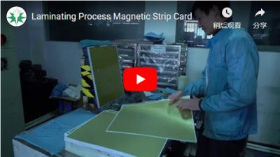 Laminating Process Magnetic Strip Card