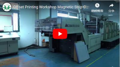 Offset Printing Workshop Magnetic Strip Card