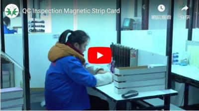 QC Inspection Magnetic Strip Card