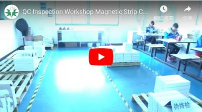 QC Inspection Workshop Magnetic Strip Card